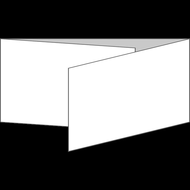三つ折り|横型|巻き折り