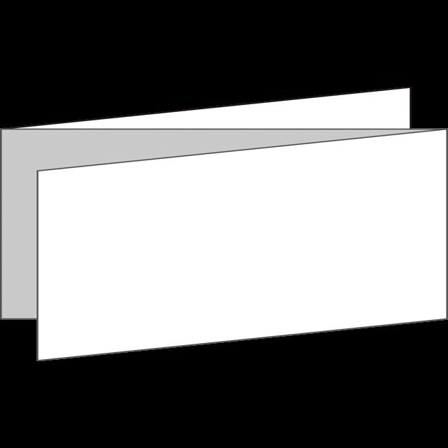 三つ折り|横型|Z折り