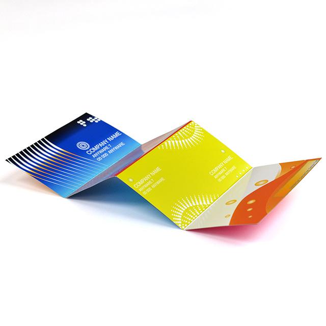 四つ折り名刺|縦型(ジャバラ折り1)