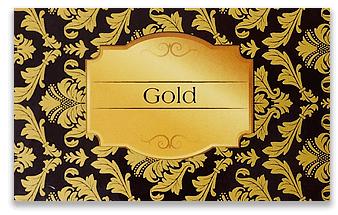 ゴールド・クリアトナー印刷仕上がりサンプル
