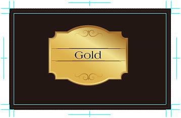ゴールド・クリアトナー印刷用通常印刷データ