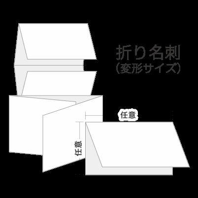 二つ折り名刺(変形サイズ)・三つ折り名刺(変形サイズ)・四つ折り名刺(変形サイズ)